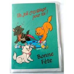 Carte postale neuve avec enveloppe bonne fête enfant carte a colorier Disney (14.01)