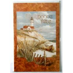 Carte postale neuve avec enveloppe bonne fête phare marin (lot 19.06)