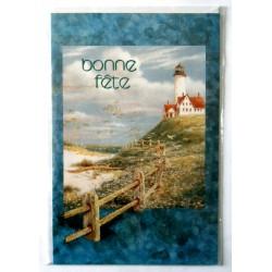 Carte postale neuve avec enveloppe bonne fête phare marin (lot 19.07)