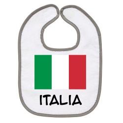 TRANSFERT TEXTILE BAVOIR BEBE SUPPORTER ITALIE V24 IDEE CADEAU NAISSANCE NEUF