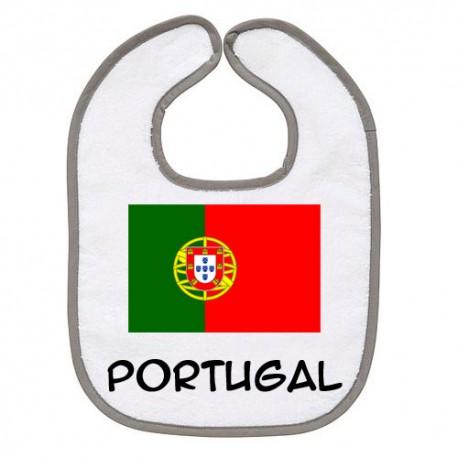 TRANSFERT TEXTILE BAVOIR BEBE SUPPORTER PORTUGAL V25 IDEE CADEAU NAISSANCE NEUF