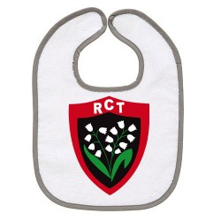 TRANSFERT TEXTILE BAVOIR BEBE SUPPORTER RUGBY RCT TOULON V33 IDEE CADEAU NAISSANCE NEUF