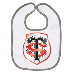 TRANSFERT TEXTILE BAVOIR BEBE SUPPORTER RUGBY Stade Toulousain V35 IDEE CADEAU NAISSANCE NEUF