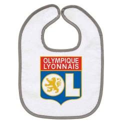 TRANSFERT TEXTILE BAVOIR BEBE SUPPORTER FOOT Olympique Lyonnais OL IDEE CADEAU NAISSANCE NEUF