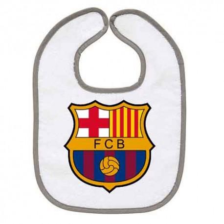 TRANSFERT TEXTILE BAVOIR BEBE SUPPORTER FOOT FC Barcelone V43 IDEE CADEAU NAISSANCE NEUF