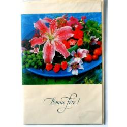 Carte postale neuve avec enveloppe bonne fête (lot 29.02)