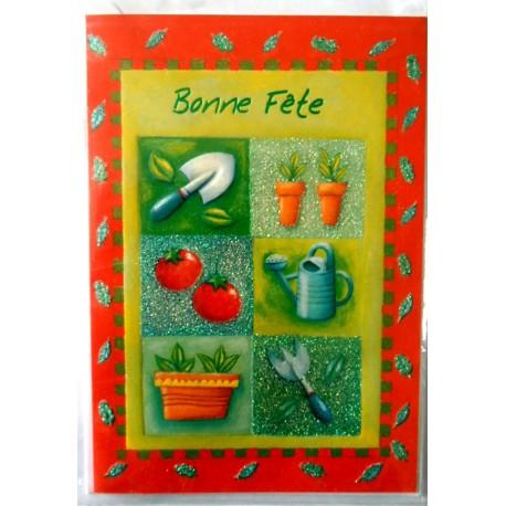 Carte postale neuve avec enveloppe bonne fête (lot 32.05)