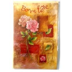Carte postale neuve avec enveloppe bonne fête (lot 33.01)