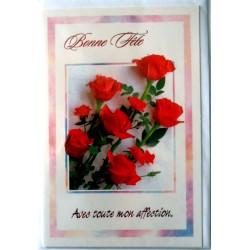 Carte postale neuve avec enveloppe bonne fête (lot 33.02)