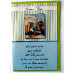 Carte postale neuve avec enveloppe bonne fête (lot 33.05)
