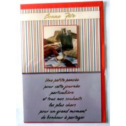 Carte postale neuve avec enveloppe bonne fête (lot 33.06)