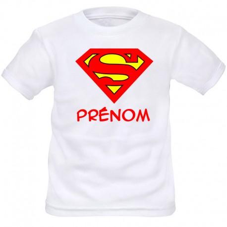 TRANSFERT TEXTILE T-SHIRT ENFANT PERSONNALISABLE SUPERMAN