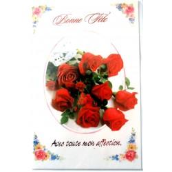Carte postale neuve avec enveloppe bonne fête (lot 34.04)