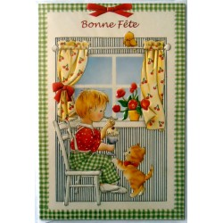 Carte postale neuve avec enveloppe bonne fête (02.02)