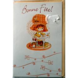 Carte postale neuve avec enveloppe bonne fête (02.08)