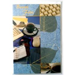 Carte postale neuve avec enveloppe bonne fête (lot 04)