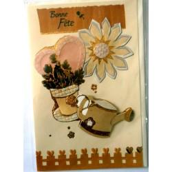 Carte postale neuve avec enveloppe bonne fête (lot 06.01)