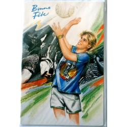 Carte postale neuve avec enveloppe bonne fête sport volley (lot 06.08)