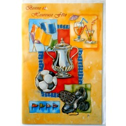 Carte postale neuve avec enveloppe bonne fête sport (lot 06.11)