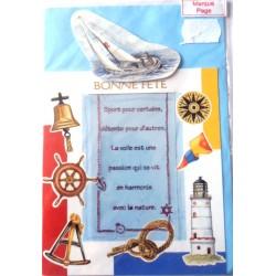 Carte postale neuve avec enveloppe bonne fête marque pages (lot 08.03)