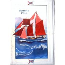 Carte postale neuve avec enveloppe bonne fête (08.05)