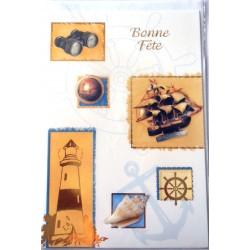 Carte postale neuve avec enveloppe bonne fête (08.06)