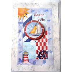 Carte postale neuve avec enveloppe bonne fête (lot 09.05)