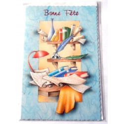 Carte postale neuve avec enveloppe bonne fête (09.06)