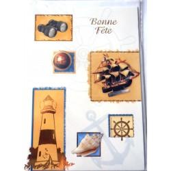 Carte postale neuve avec enveloppe bonne fête (10.02)