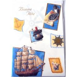 Carte postale neuve avec enveloppe bonne fête (10.03)