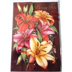 Carte postale neuve avec enveloppe bonne fête dépliant parfumé (lot 10.06)