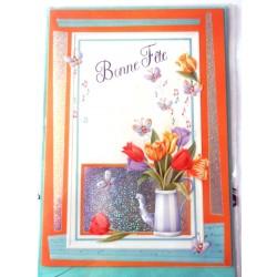 Carte postale neuve avec enveloppe bonne fête (11.04)