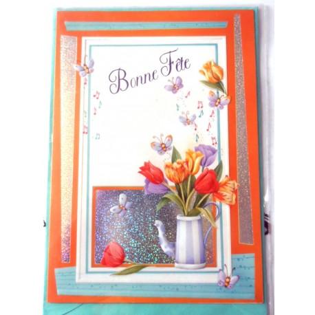 Carte postale neuve avec enveloppe bonne fête (lot 11.04)