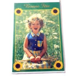 Carte postale neuve avec enveloppe bonne fête (lot 12.12)