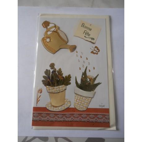 Carte postale neuve avec enveloppe bonne fête (lot 16.07)