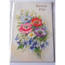 Carte postale neuve avec enveloppe bonne fête (18.01)