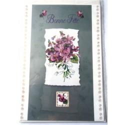 Carte postale neuve avec enveloppe bonne fête (18.06)