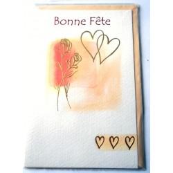 Carte postale neuve avec enveloppe bonne fête (18.08)