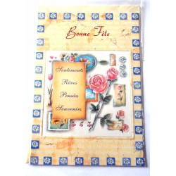 Carte postale neuve avec enveloppe bonne fête (19.04)