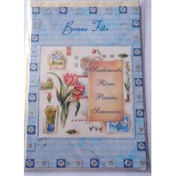 Carte postale neuve avec enveloppe bonne fête (20.01)