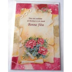 Carte postale neuve avec enveloppe bonne fête (20.03)