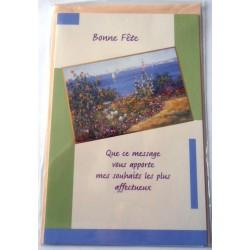 Carte postale neuve avec enveloppe bonne fête (20.04)
