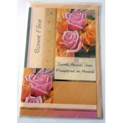 Carte postale neuve avec enveloppe bonne fête (lot 20.05)