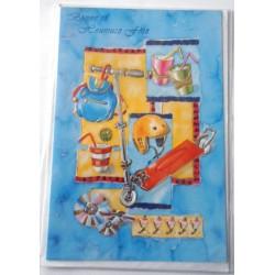 Carte postale neuve avec enveloppe bonne fête (21.02)