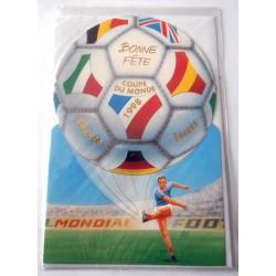 Carte postale neuve avec enveloppe bonne fête coupe du monde 1998 (21.04)