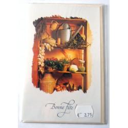 Carte postale neuve avec enveloppe bonne fête (21.05)
