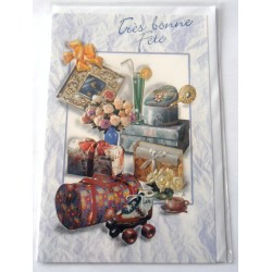 Carte postale neuve avec enveloppe bonne fête (21.06)