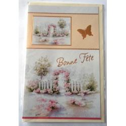 Carte postale neuve avec enveloppe bonne fête (21.08)