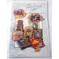 Carte postale neuve avec enveloppe bonne fête (22.01)