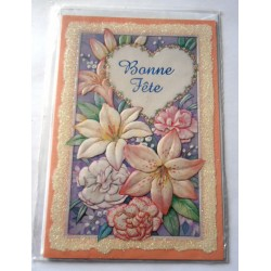 Carte postale neuve avec enveloppe bonne fête (lot 23.02)